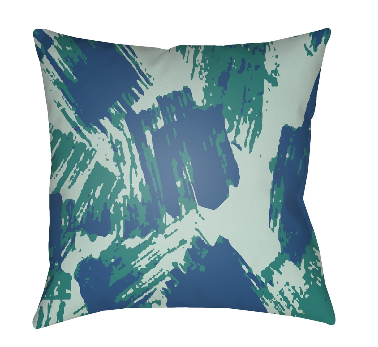 22 Green Navy Blue Abstract Patterned Square Throw Pillow Cover Christmas Central