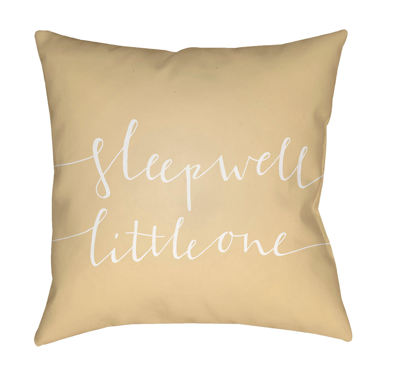 20 Yellow White Sleep Well Little One Printed Square Throw Pillow Cover Christmas Central