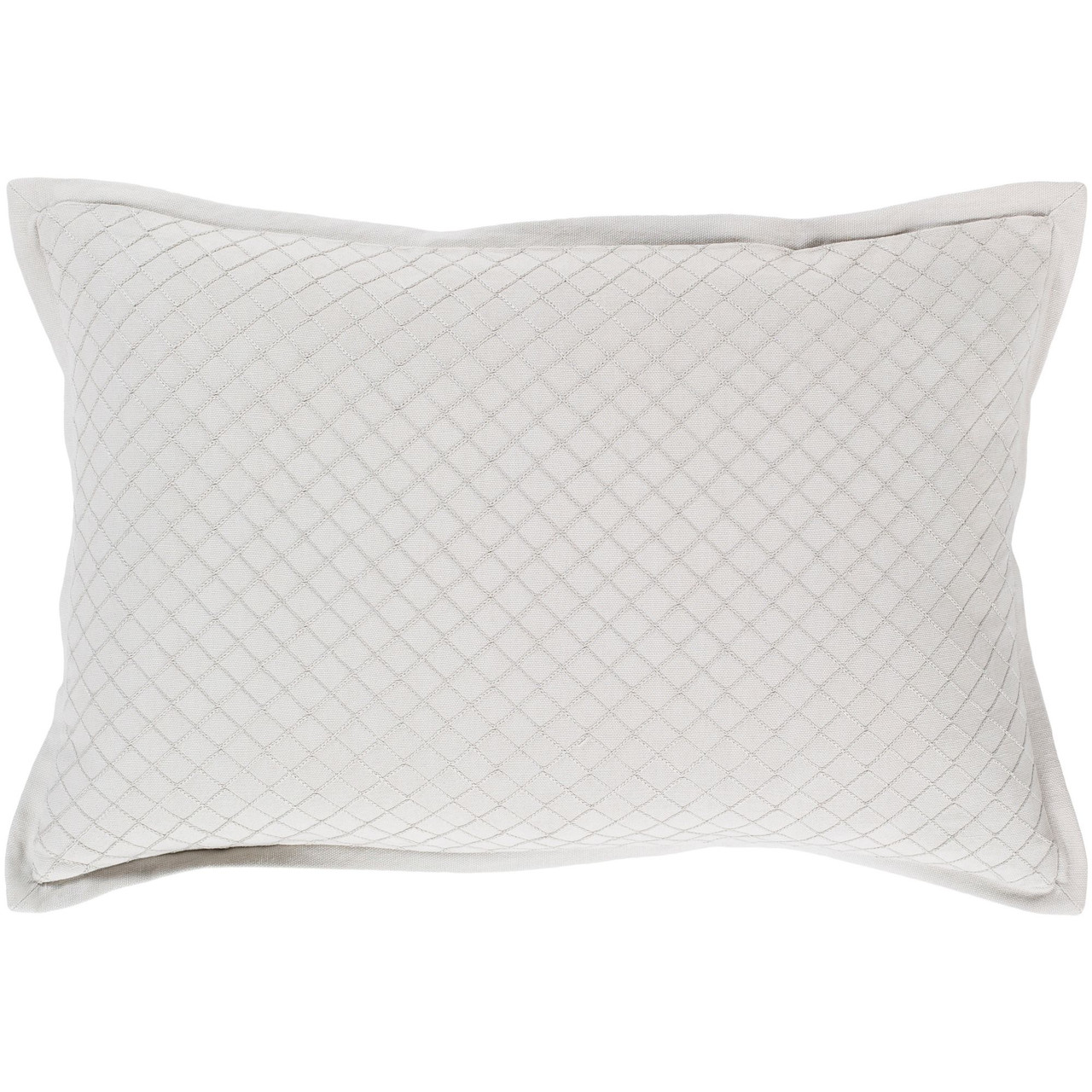 19 Pale Green Weave Patterned Rectangular Throw Pillow Cover With Flange Edge Christmas Central