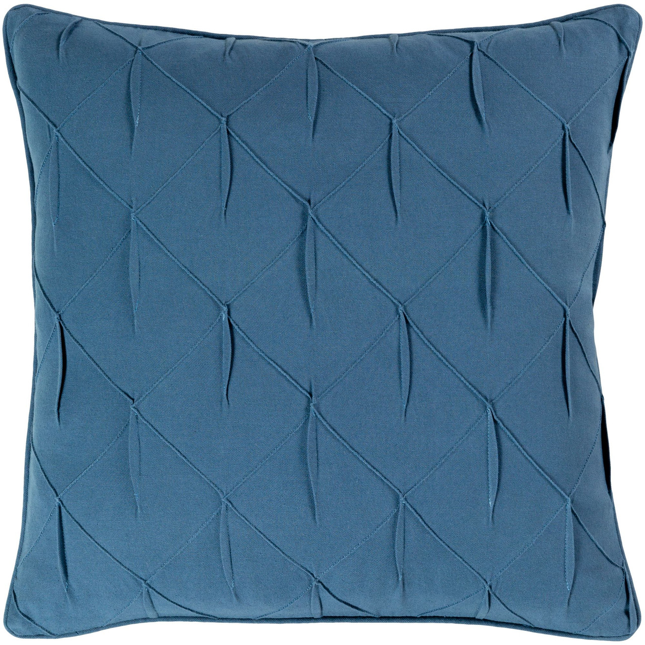 22 Blue Textured Lattice Pattern With Fabric Manipulation Design Square Throw Pillow Cover Christmas Central