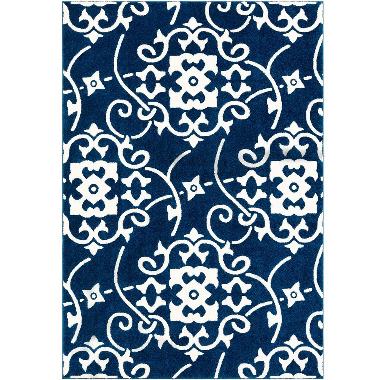 Picture of: 3 3 X 5 Tribal Design Navy Blue White Machine Woven Area Rug Christmas Central