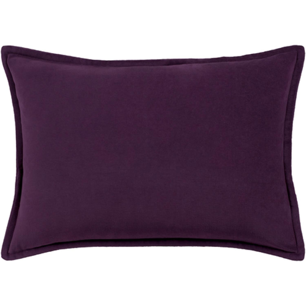 19 Eggplant Purple Rectangular Throw Pillow Cover With Flange Edge Christmas Central