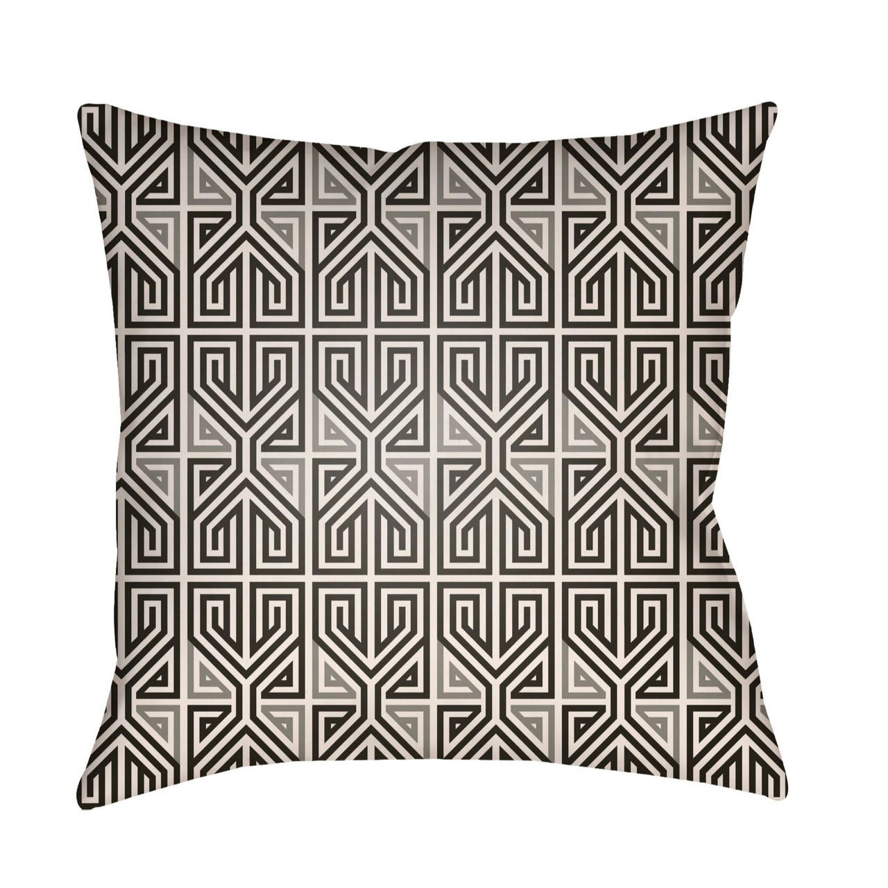 22 Black Gray Geometric Square Outdoor Throw Pillow Cover Christmas Central