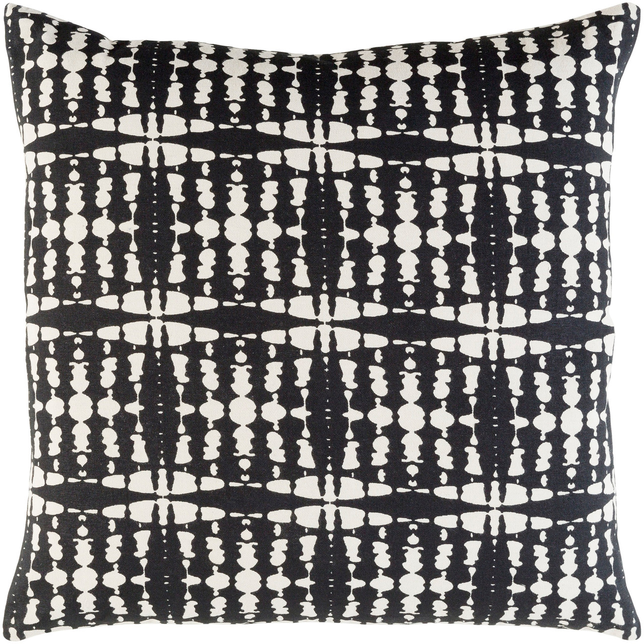 20 Black Beige Screen Printed Square Woven Throw Pillow Cover With Knife Edge Christmas Central