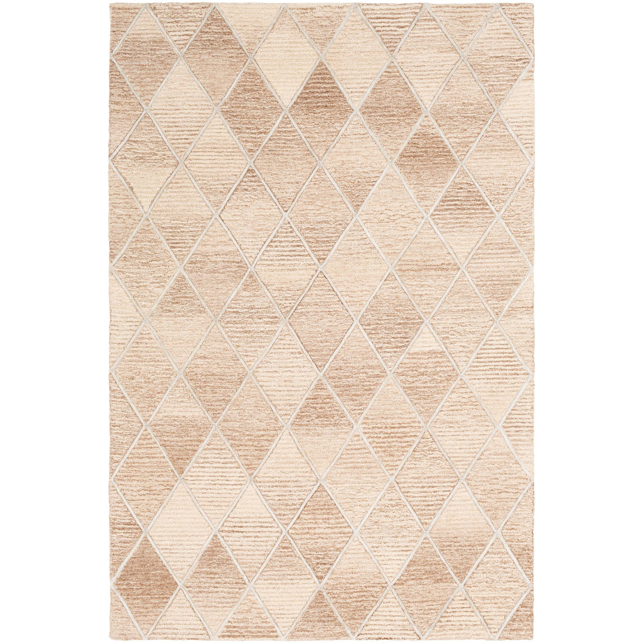 9 X 12 Diamond Patterned White Beige Rectangular Area Throw Rug Christmas Central