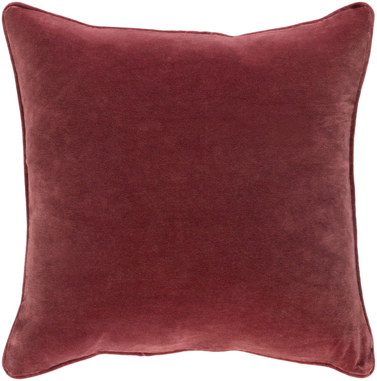 18 Wine Red Velvet Square Throw Pillow Down Filler Christmas Central