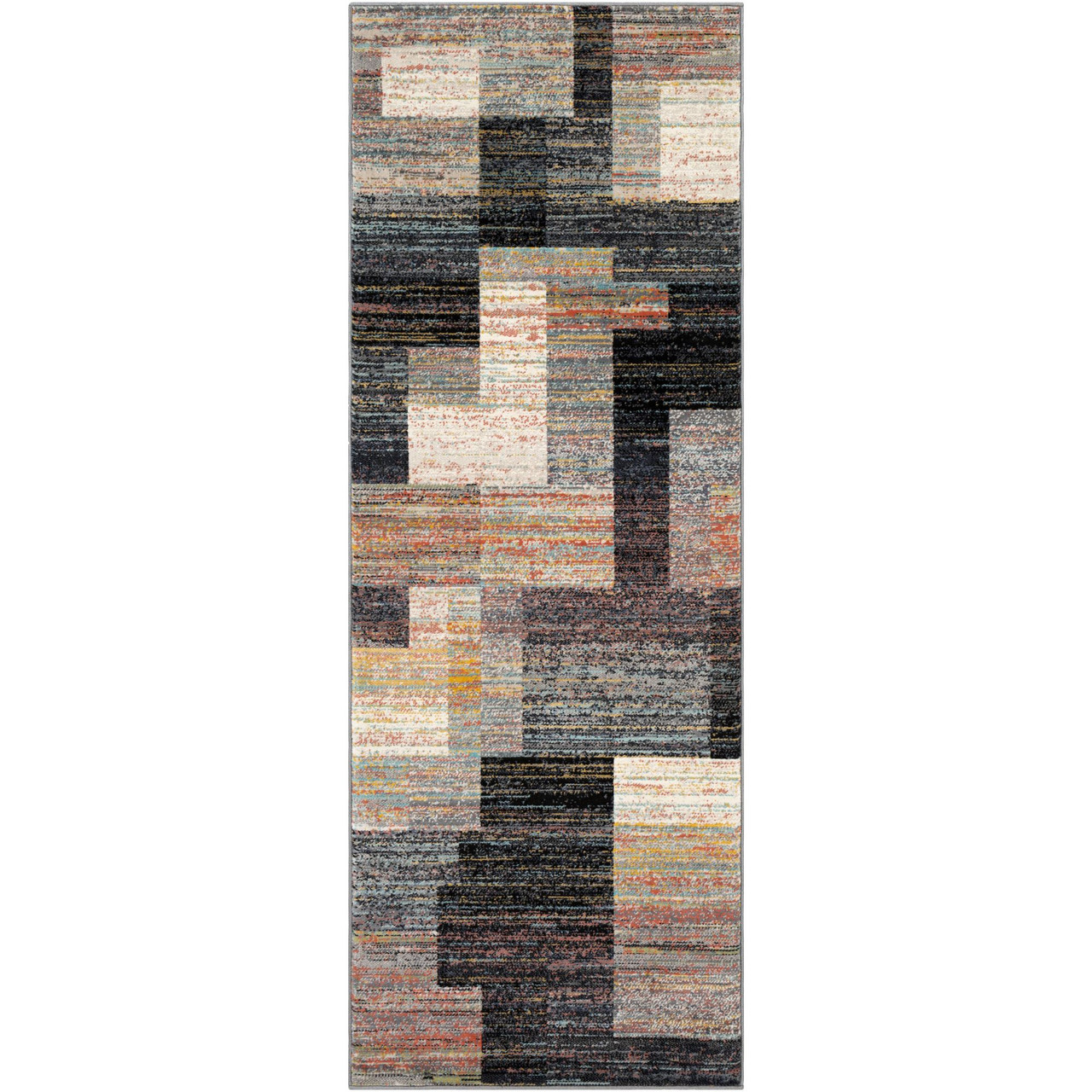 2 X 3 Black And Brown Rectangular Area Throw Rug 33421155