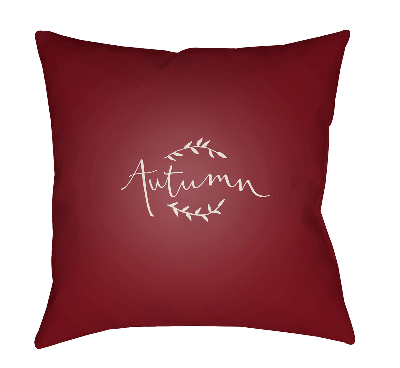 20 Wine Red White Autumn Printed Square Throw Pillow Cover Christmas Central