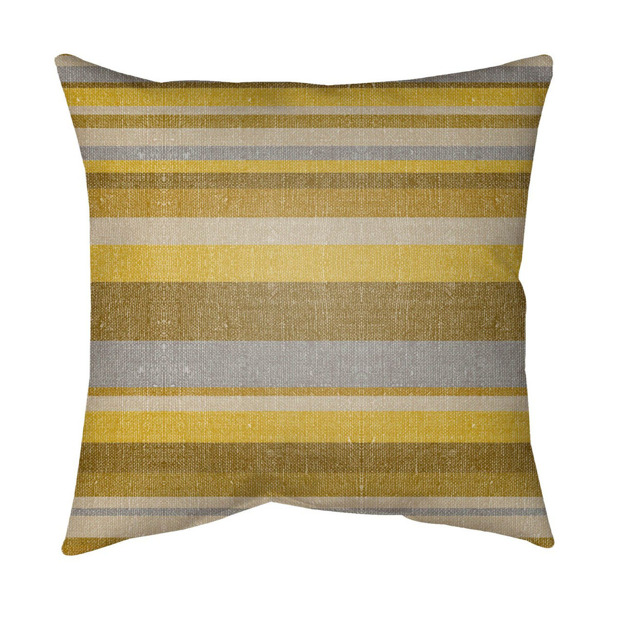 16 Mustard Yellow Gray Striped Square Throw Pillow Cover Christmas Central