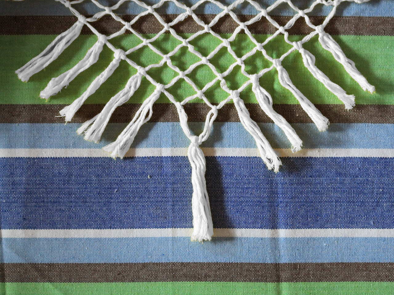 72 Blue And Green Brazilian Style Hammock Chair With A Hanging Bar 33670565