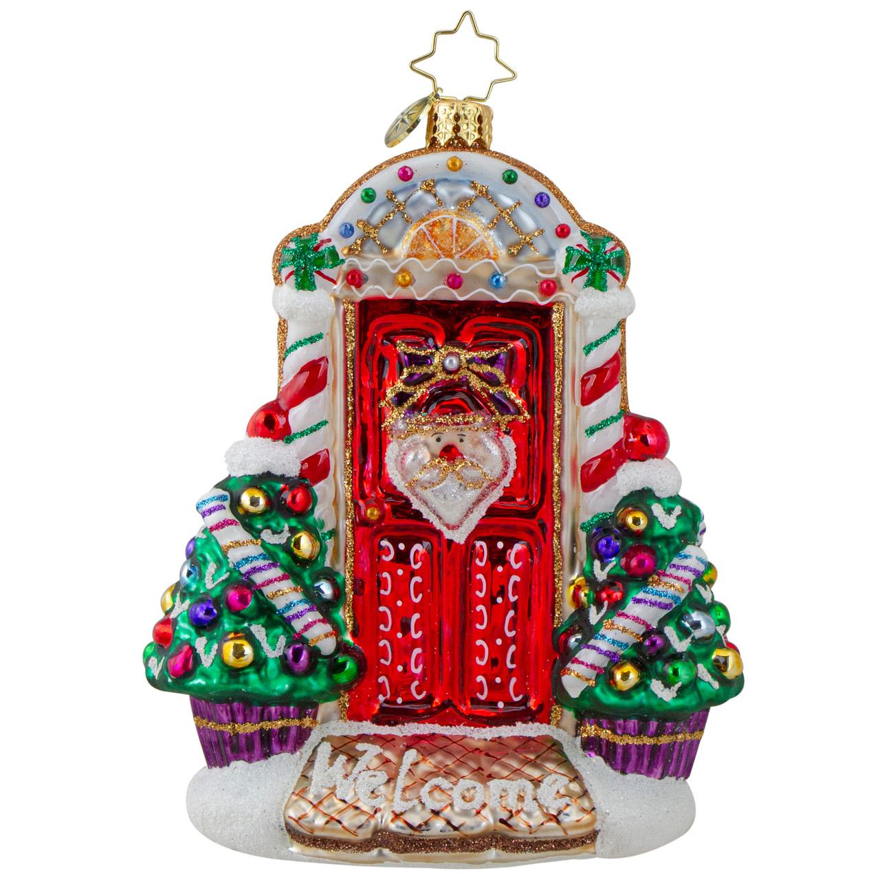 The Official Christopher Radko Company Magnificent Santa Christmas Ornament Red//Gold//Green 1019696