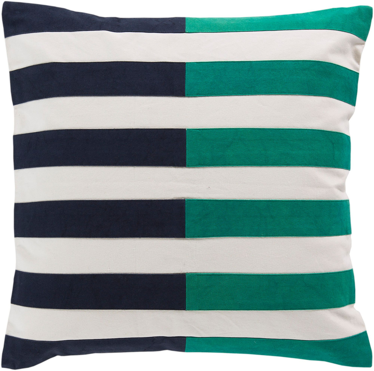 20 Navy Blue Emerald Green Striped Square Throw Pillow Cover Christmas Central