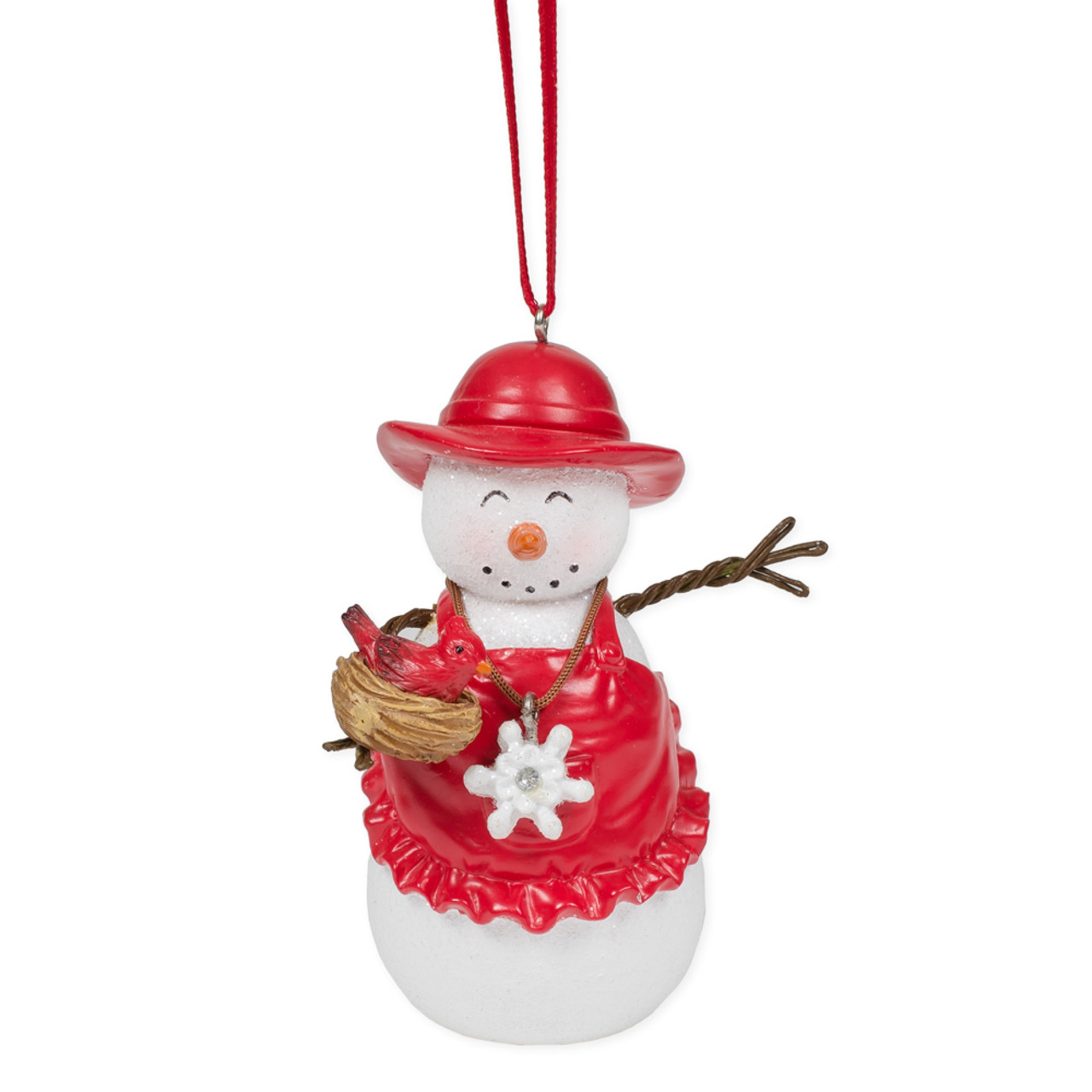 Mrs Snowman With Cardinal Christmas Tree Ornament 3 Christmas Central