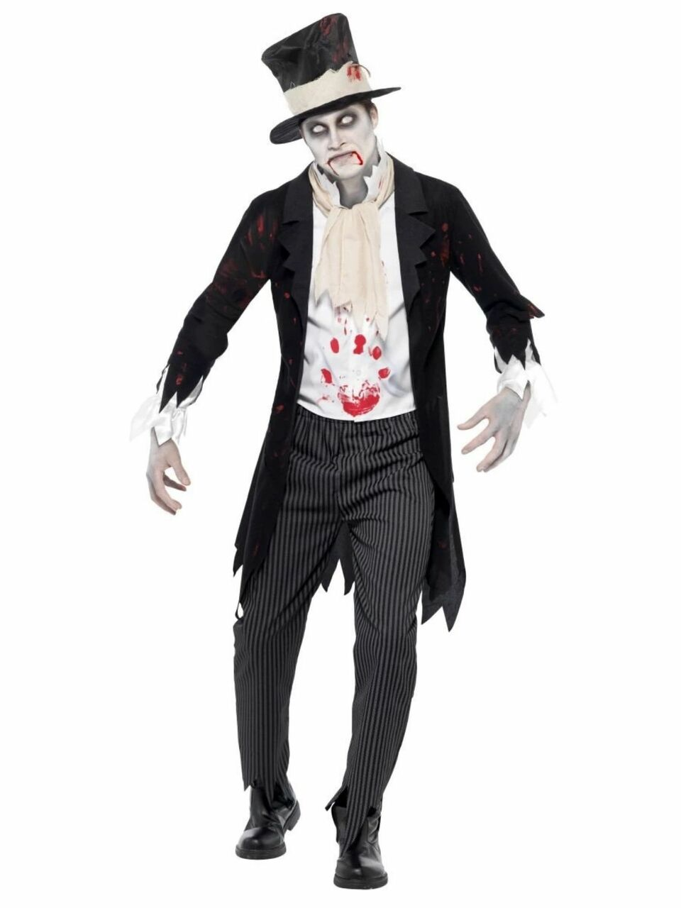 Adult Men/'s White Zombie Prom Ghost Groom Costume