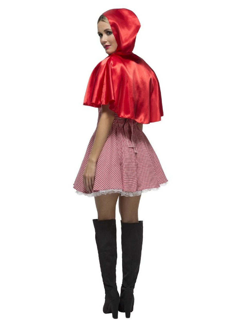 Womens Dark Red Riding Hood Adult Halloween Costume