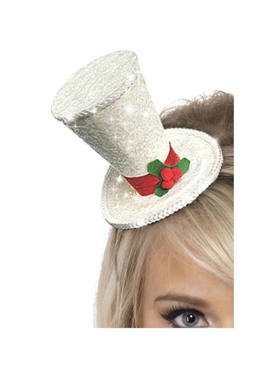 One Size Smiffys Holly Berry Santa Hat Size