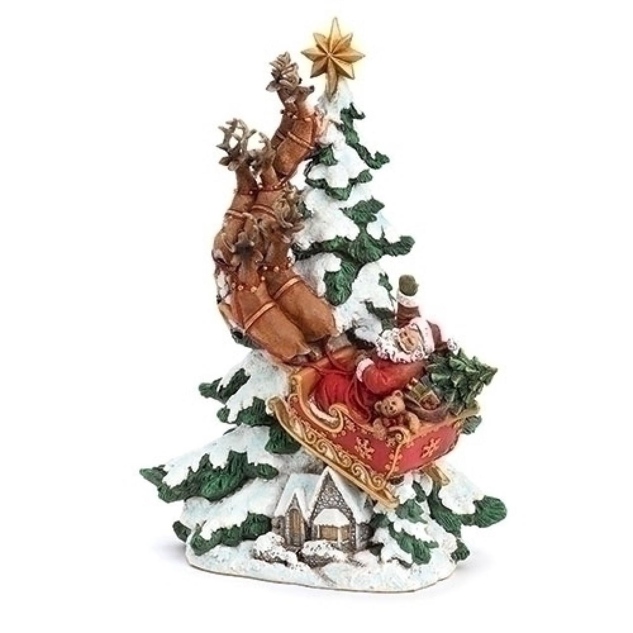 15 Santa Flying Reindeer Resin Christmas Tree Figurine Christmas Central