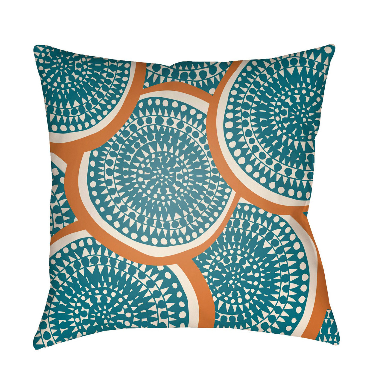 4 Sizes Keely Blue Violet and Turquoise Floral Mums Spun Polyester Square Pillow
