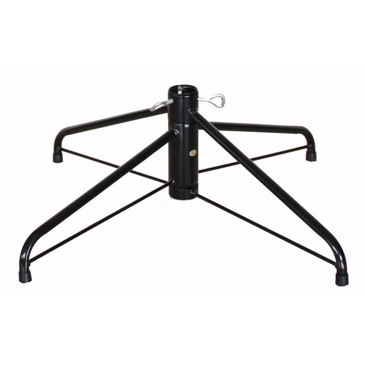 22 Black Metal Folding Christmas Tree Stand For Artificial Trees Up To 6 5 8 Tall Christmas Central