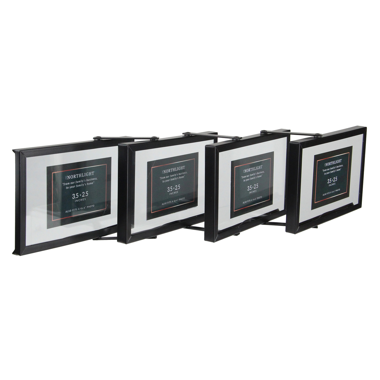 20 Contemporary Collapsible Rectangular 4 X 6 Photo Picture Frame Black Christmas Central