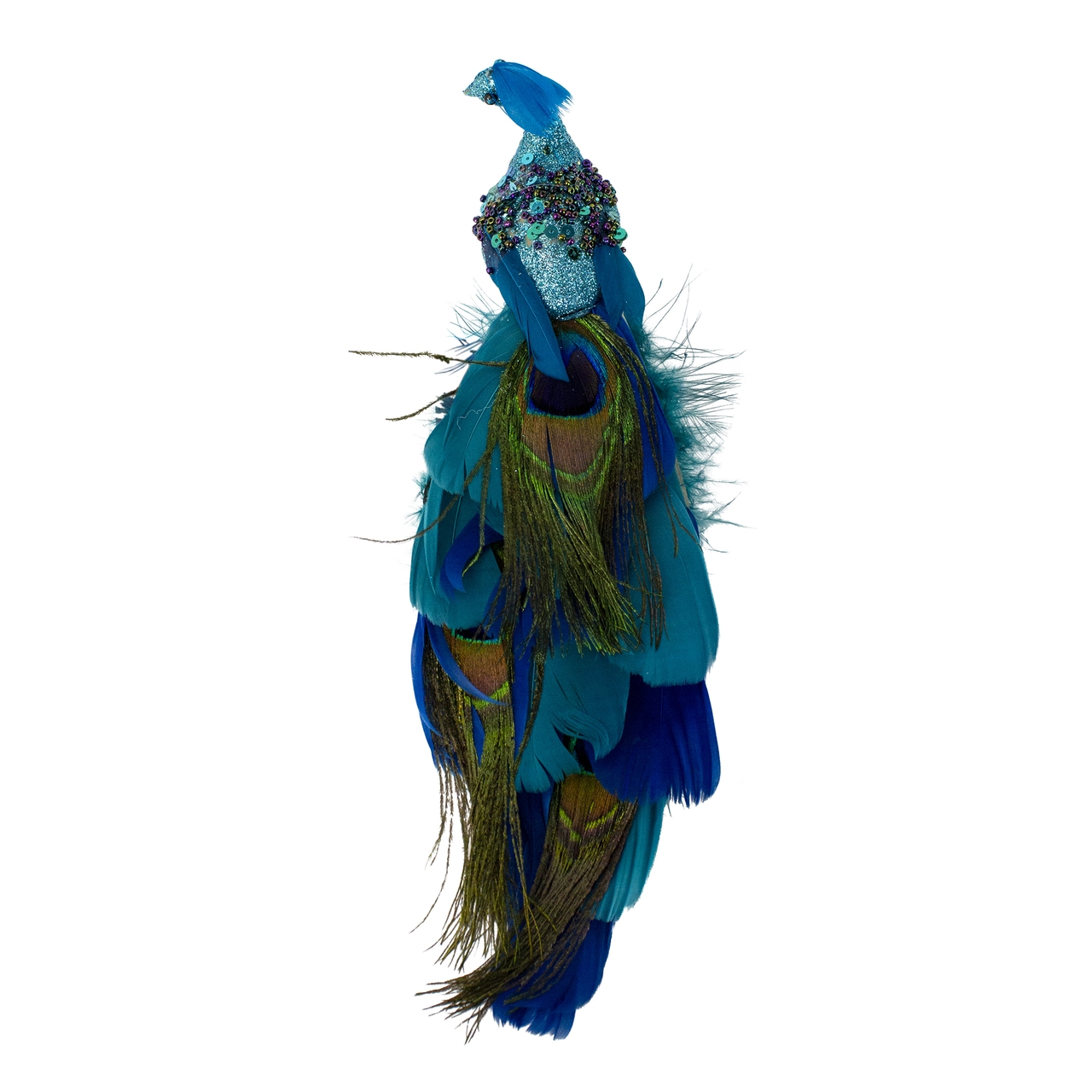 3 Mardi Gras Holiday Clip-On Bird Ornaments Gold Purple Green