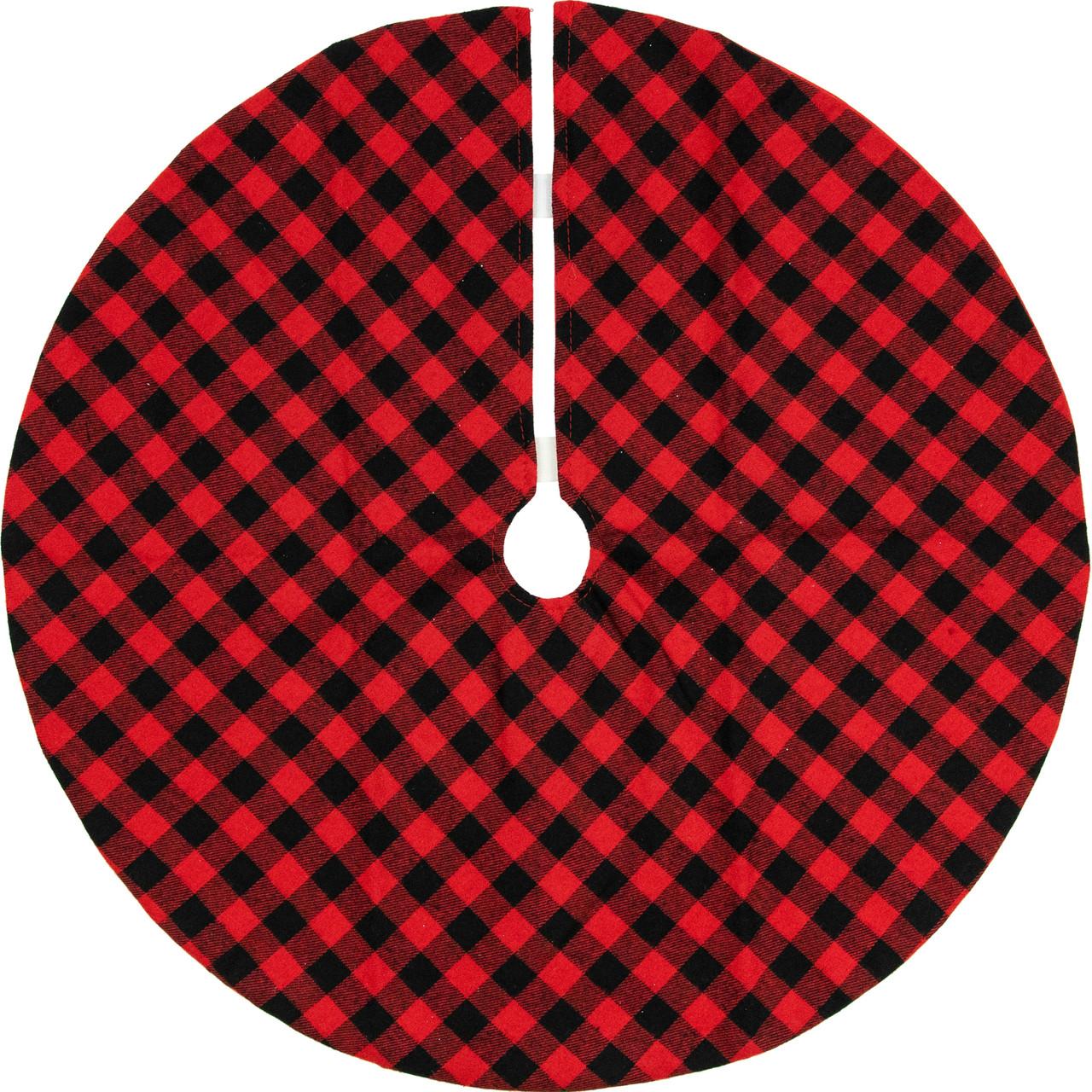 20 Red Black Buffalo Plaid Mini Christmas Tree Skirt Christmas Central