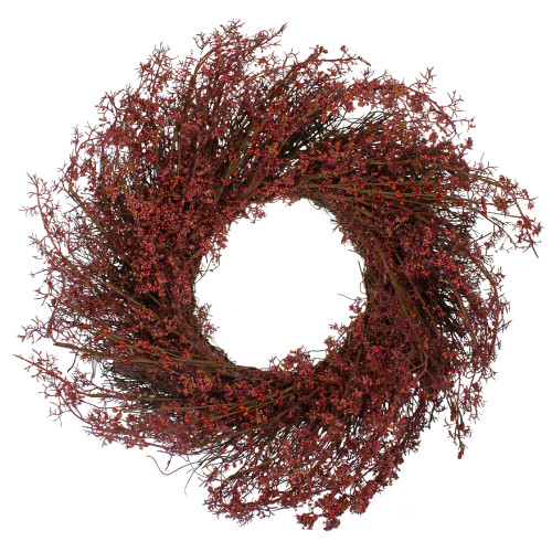 "24"" Fall Harvest Burgundy Berry Artificial Wreath - Unlit - IMAGE 1"