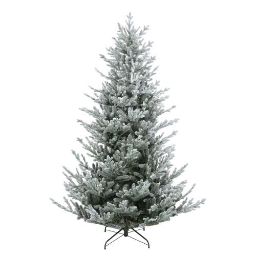 7.5' Flocked Little River Fir Artificial Christmas Tree - Unlit - IMAGE 1
