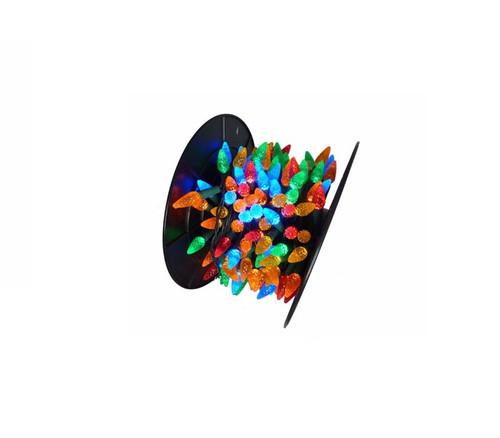 210 Commercial Length Multi-Color LED C6 Christmas Lights - 56.5 ft Green Wire - IMAGE 1