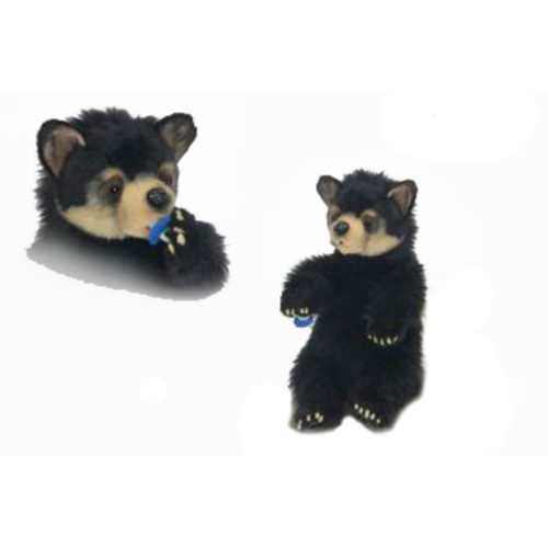 "13.5"" Black Seated Bear Cubs Tabletop Figurine - IMAGE 1"