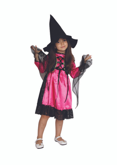 Witch Girls Childrens Halloween Costume Large - IMAGE 1