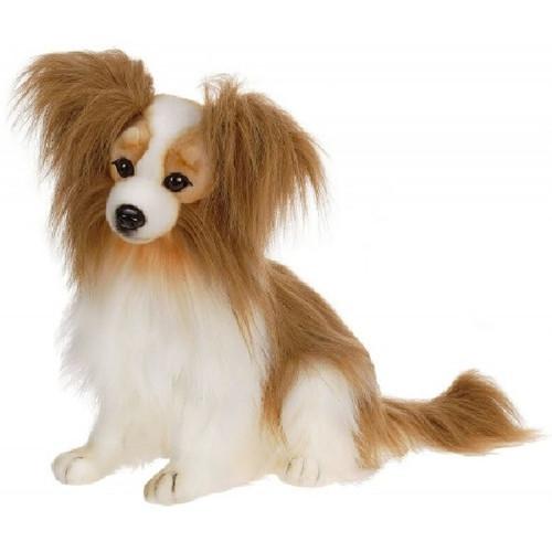"Set of 2 Handcrafted Plush Pappillon Dog Stuffed Animals 16.5"" - IMAGE 1"