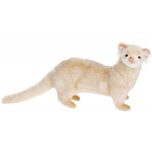 "Pack of 2 Life-like Handcrafted Extra Soft Plush Cream Ferret Stuffed Animals 15.5"" - IMAGE 1"