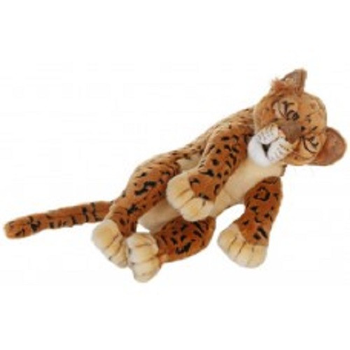 """Set of 2 Life-Like Handcrafted Extra Soft Plush Sleeping Leopard Cubs Stuffed Animals 15.5"""" - IMAGE 1"""