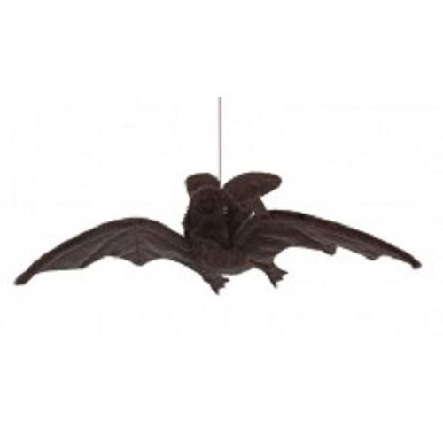 """Set of 4 Life-Like Handcrafted Extra Soft Plush Hanging Black Bat Stuffed Animals 14.5"""" - IMAGE 1"""