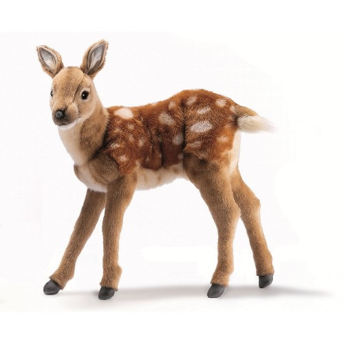 """Set of 2 Brown Handcrafted Soft Plush Bambi Deers 13.75"""" - IMAGE 1"""