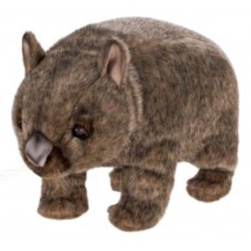 """Set of 3 Lifelike Handcrafted Extra Soft Plush Wombat Stuffed Animals 14.5"""" - IMAGE 1"""