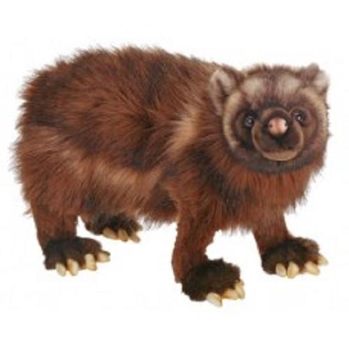 "Set of 2 Life-Like Handcrafted Extra Soft Plush Wolverine Stuffed Animals 19.5"" - IMAGE 1"