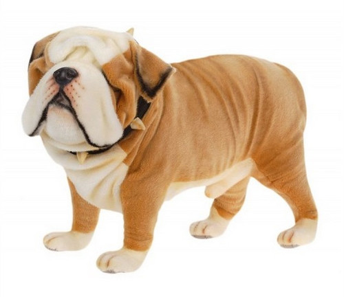 "29.5"" Brown and White Handcrafted Soft Plush English Bulldog Stuffed Animal - IMAGE 1"