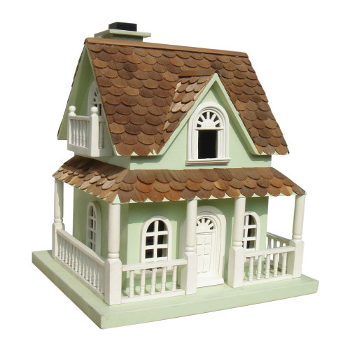 "14.5"" Fully Functional Enchanted Fairytale Cottage Outdoor Garden Birdhouse - IMAGE 1"