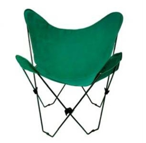 """35"""" Retro Style Outdoor Patio Butterfly Chair with Green Cotton Duck Fabric Cover - IMAGE 1"""