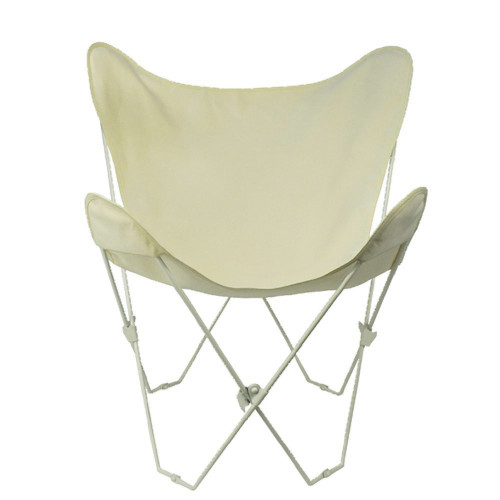 """35"""" Retro Style Outdoor Patio Butterfly Chair with Natural Cotton Duck Fabric Cover - IMAGE 1"""