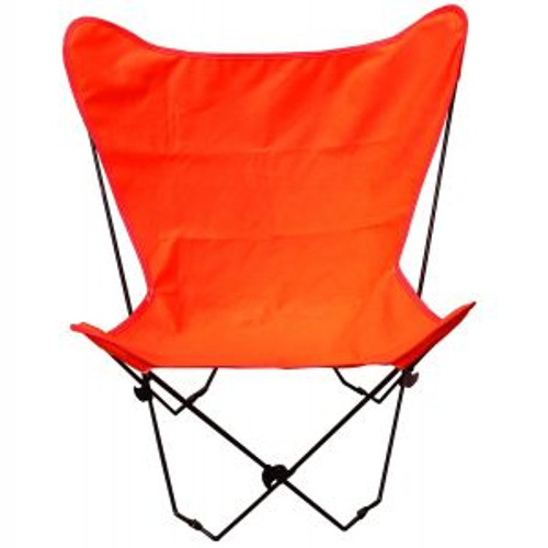 """35"""" Retro Style Outdoor Patio Butterfly Chair with Orange Cotton Duck Fabric Cover - IMAGE 1"""