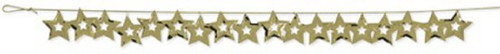 """Pack of 12 Metallic Gold Cutout Stars Hanging Christmas Party Garlands 108"""" - IMAGE 1"""