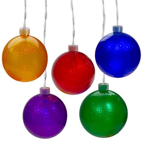5 Count Multi-Color LED Globe Icicle Christmas Light Set - IMAGE 1