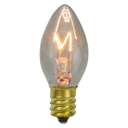 """Set of 4 C7 Incandescent Clear Twinkle Replacement Bulbs - 2"""" - IMAGE 1"""