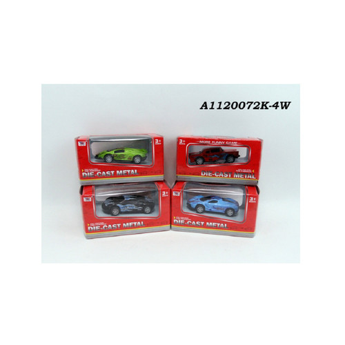 """Set of 4 Street Style 1:50 Scale Die-Cast Metal Model Mixed Cars 5"""" - IMAGE 1"""