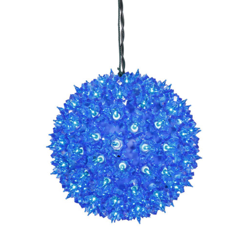 """7.5"""" Blue Lighted Twinkling Starlight Sphere Christmas Decoration - IMAGE 1"""