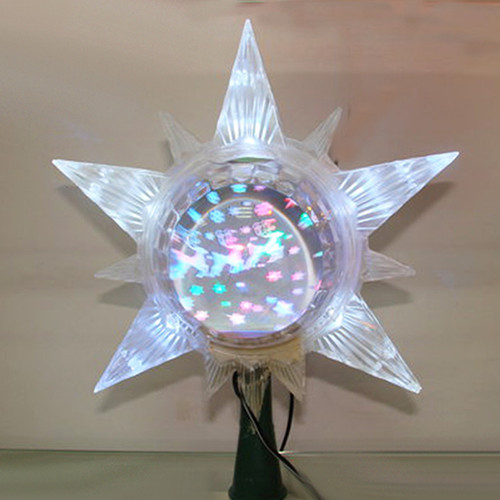 """The Early Years Lighted LED Star w/ Revolving Globe Christmas Tree Topper 13"""" - IMAGE 1"""