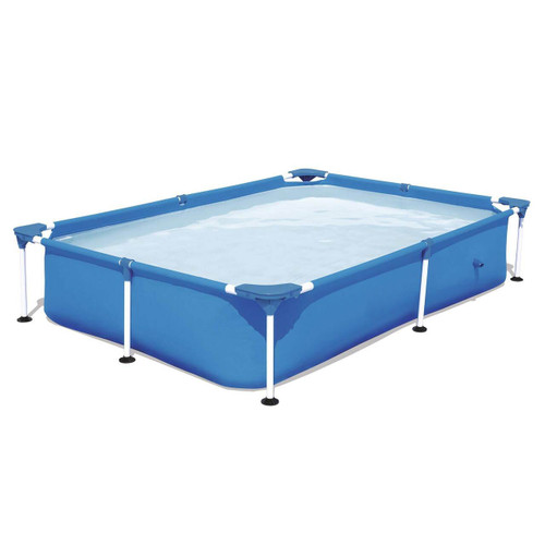 7.25ft x 17in Bestway Rectangular Framed Above Ground Swimming Pool with Filter Pump - IMAGE 1